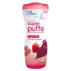 plum organic baby puffs, color fruit, organ babi, plums, organ super
