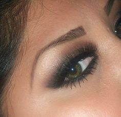 Brown Smokey Eye for Green Eyes // Follow @ FancyNancy23 #fancynancy23