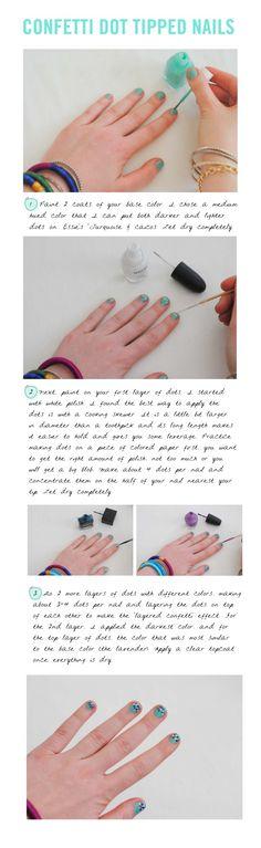 confetti dot nails