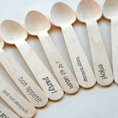 Perfect spoons for an ice cream party