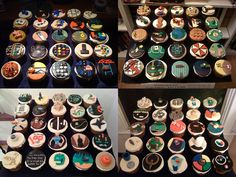 board and video game cupcakes