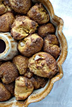 Cream Cheese Stuffed Pumpkin Monkey Bread