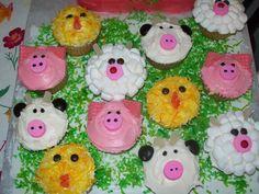 farm animal cake cake idea, livestock cake, themed cupcakes, anim cupcak, animal cakes, animal cupcakes, farm anim, anim cake