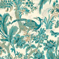 56 sq. ft. Peacock Bird'S Paradise Wallpaper-WC1282512 at The Home Depot