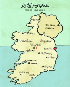 irish map.
