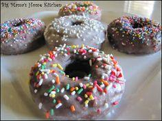 Big Mama's Home Kitchen: Glazed Chocolate Cake Donuts