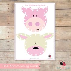 Free Printable Animal Lacing Cards