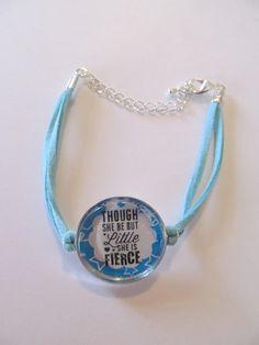 Though She Be But Little She is Fierce  Bracelet  on by Doris2618, $3.50