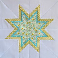 Six White Horses: The Lone Starburst  Paper piecing & templates