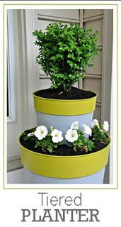Tiered Planter- I want to make some for the back patio.