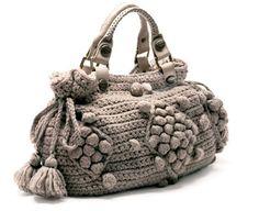 Crochet winter bag