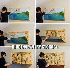 life hack | diy | house | life hacks | organize | organization | house tips | storage hidden storage, organizing ideas, craft, jewelry storage, diy jewelry, space saving, jewellery storage, jewelry organization, storage ideas