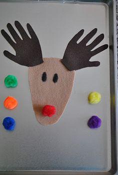 Felt Rudolph Activity farmers, kids christmas crafts, felt rudolph, kid christma, iowa farmer, simpl kid, farmer wife, christma craft, rudolph activ