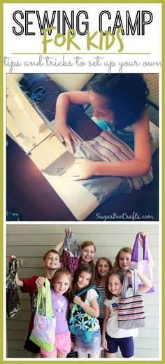 how to host a sewing camp for kids - this is so much fun!!