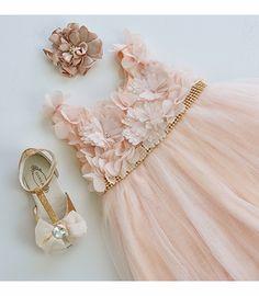 ADORE! <3 Le Pink Fairy Princess Sleeveless Girls Fancy Dress in Peach
