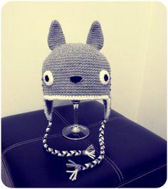 Totoro hat!! :D  Gorro de Totoro!! :D #crochet #amigurumi