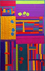 Colorado Autumn Blaze Art Quilt