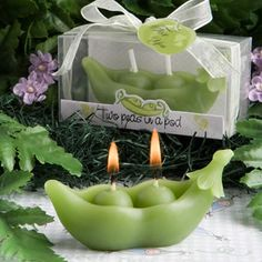 Two Peas in a Pod Candle Favors