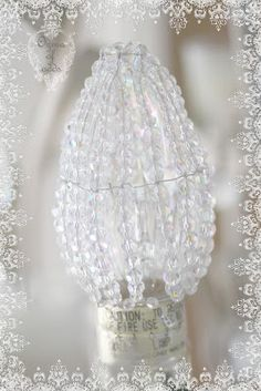 Ozma of odds: ...crystal beaded light bulb cover tutorial