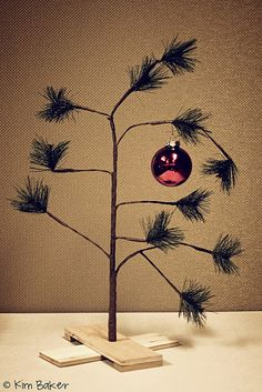 Charlie Brown and his tree....