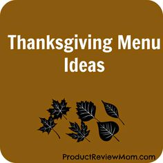 #Thanksgiving Menu I