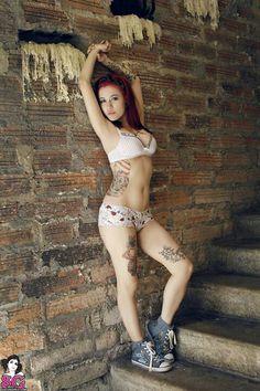Ellys Suicide brick, tattoos, tattoo girl, suicid girl, hous, beauti, elli, ink girl, tattoo ink