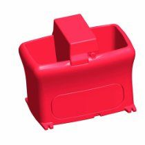 Brower MPO12E 12-Gallon Poly Heated Waterer, Red