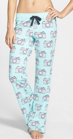Camera print pajama pants http://rstyle.me/n/mq74vnyg6