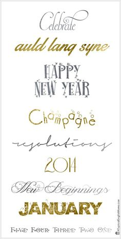 A Typical English Home: New Year & Celebration Fonts