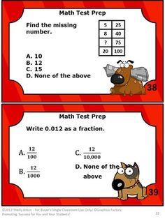 Math Task Cards Grade 4 Test Prep