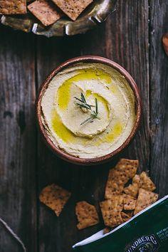 Garlic Rosemary Hummus