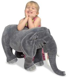 Jumbo Plush Elephant at theBIGzoo.com, a family-owned gift shop with 12,000+ animal-themed items.