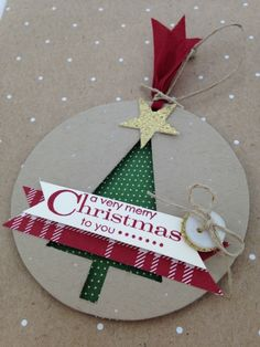Trim the Tree Tag by Andrea Brewster,Cased right out of the Holiday catty - I loved this one!