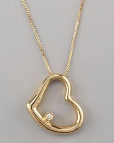 Heart Pendant Necklace, Yellow by Roberto Coin at Neiman Marcus.