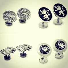 Whether you're rooting for House Lannister, Targaryen, or Stark - we have the cuff links to back you up.  #FathersDayIsComing #graduationiscoming🎓 #FortunoffJewelry #GameOfThrones #cufflinks #cufflinkstyle