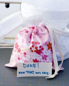 Tutorial: Easy Drawstring Bags