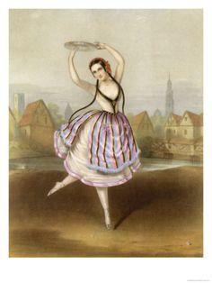 fanny cerrito | Fanny Cerrito Italian Ballet Dancer Seen Here in Alma Giclee Print at ...