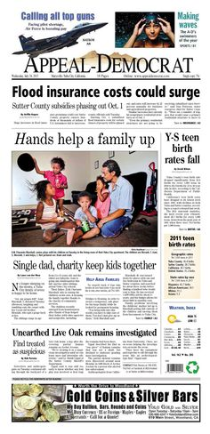Appeal-Democrat front page for Wednesday, July 24, 2013.