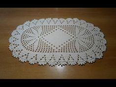 tapete de crochê oval em barbante parte 1 - crochet rug - alfombra de ga...