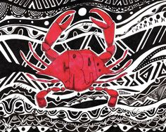 Red Crab by Adrienne Price