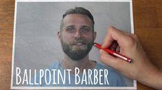 Ballpoint Barber // Stop-motion Reverse Haircut and Beard-cut