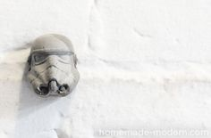 DIY Star Wars Inspired Concrete Storm Trooper Hook