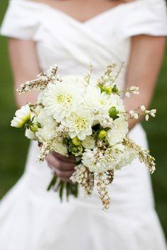 White dahlia bouquet | Brides.com