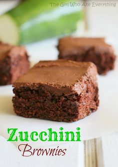 Zucchini Brownies | The Girl Who Ate Everything