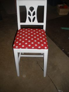 Just did a redo on this chair from my mom's childhood for my daughter.