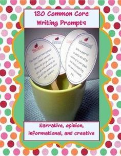 120 Common Core Writing Prompt Cards product from The-Teaching-Side on TeachersNotebook.com