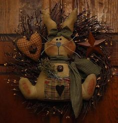 bunny wreath-make this