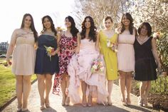 dresses in a whole spectrum of colors and personality  Photography by http://freshinlove.com