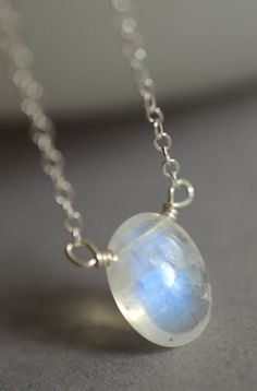 June birthstone Rainbow moonstone necklace