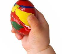 Finger paint easter eggs